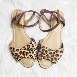 Seychelles Calf Hair Leopard Print Sandals